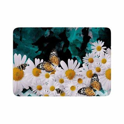 Shirlei Patricia Muniz Secret Garden Floral Memory Foam Bath Rug Size: 0.5 H x 24 W x 36 D