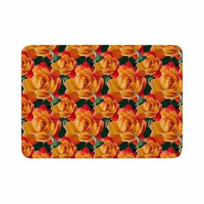 Shirlei Patricia Muniz Hummingbird Floral Memory Foam Bath Rug Size: 0.5 H x 17 W x 24 D