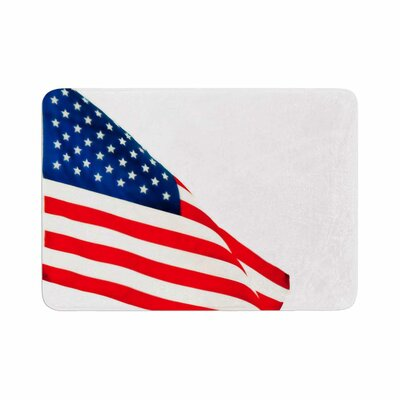 Sylvia Coomes American Flag Holiday Memory Foam Bath Rug Size: 0.5 H x 24 W x 36 D