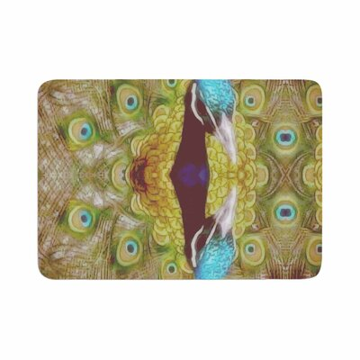 Suzanne Carter Reflected Peacock Memory Foam Bath Rug Size: 0.5 H x 17 W x 24 D