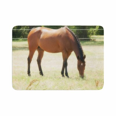 Sylvia Coomes Grazing Animals Memory Foam Bath Rug Size: 0.5 H x 17 W x 24 D