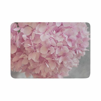 Suzanne Harford Hydrangea Flowers Floral Memory Foam Bath Rug Size: 0.5 H x 17 W x 24 D