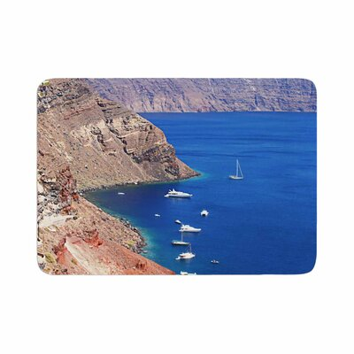 Sylvia Coomes Santorini Coastline Memory Foam Bath Rug Size: 0.5 H x 24 W x 36 D