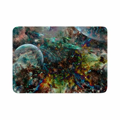 Shirlei Patricia Muniz Space Abstract Memory Foam Bath Rug Size: 0.5 H x 24 W x 36 D