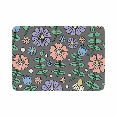 Sarah Oelerich Early Spring Floral Memory Foam Bath Rug Size: 0.5 H x 17 W x 24 D
