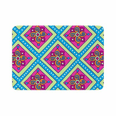 Sarah Oelerich Colorful Diamonds Memory Foam Bath Rug Size: 0.5 H x 24 W x 36 D
