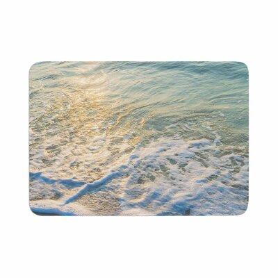 Susan Sanders Ocean Beach Water Photography Memory Foam Bath Rug Size: 0.5 H x 17 W x 24 D