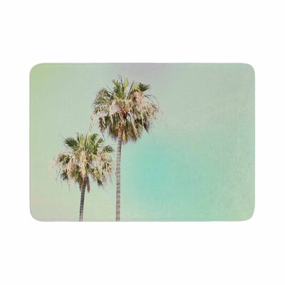 Sylvia Coomes Palm Trees Photography Memory Foam Bath Rug Size: 0.5 H x 17 W x 24 D