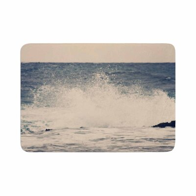Sylvia Coomes Crashing Waves 2 Costal Memory Foam Bath Rug Size: 0.5 H x 24 W x 36 D
