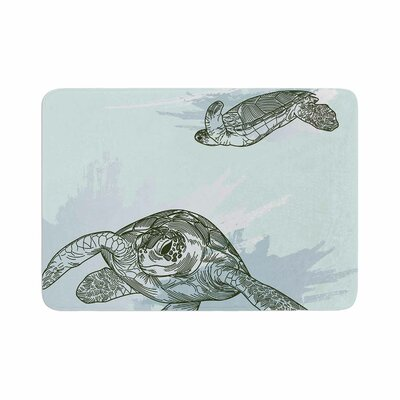 Sam Posnick Sea Turtles Memory Foam Bath Rug Size: 0.5 H x 24 W x 36 D