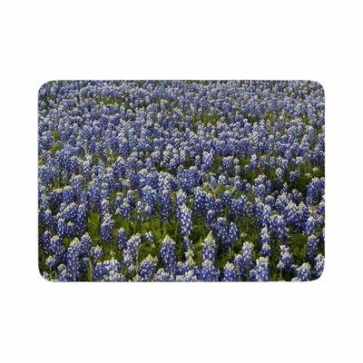 Susan Sanders Flower Lavender Fields Photography Memory Foam Bath Rug Size: 0.5 H x 24 W x 36 D