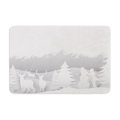 Snap Studio as Snow Simple Memory Foam Bath Rug Size: 0.5 H x 17 W x 24 D
