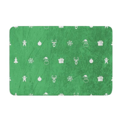 Snap Studio Pattern Memory Foam Size: 0.5 H x 17 W x 24 D, Color: Green