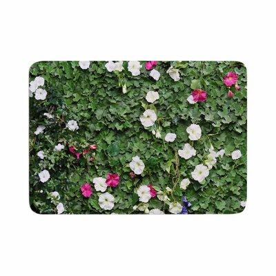 Susan Sanders Flower Vine Wall Magenta Memory Foam Size: 0.5 H x 24 W x 36 D
