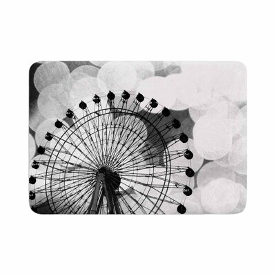 Sylvia Coomes and Ferris Wheel Memory Foam Bath Rug Size: 0.5 H x 17 W x 24 D