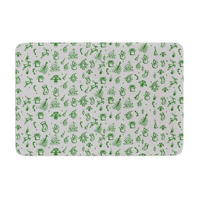 Snap Studio Miniature Christmas Memory Foam Size: 0.5 H x 17 W x 24 D, Color: Green