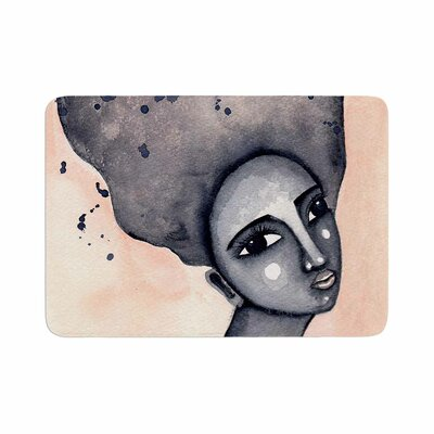 Stacey Ann Cole Yearning African American Art Vector Memory Foam Bath Rug Size: 0.5 H x 24 W x 36 D