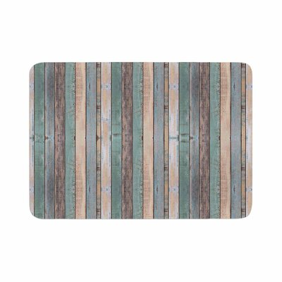 Susan Sanders Coastal Beach Wood Photography Memory Foam Bath Rug Size: 0.5 H x 17 W x 24 D