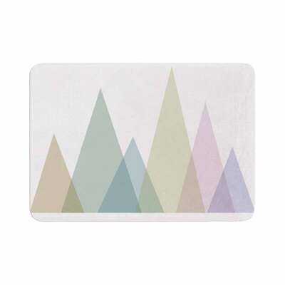 Alias Many Peaks Illustration Memory Foam Bath Rug Size: 1 H x 24 W x 36 D
