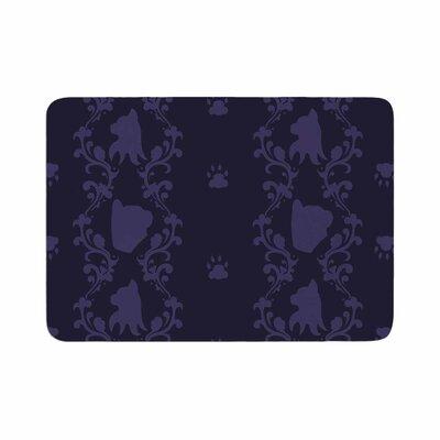 Stephanie Vaeth Cat Damask Pattern Memory Foam Bath Rug Size: 0.5 H x 24 W x 36 D