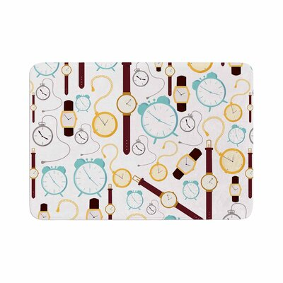 Stephanie Vaeth Clocks Memory Foam Bath Rug Size: 0.5 H x 24 W x 36 D