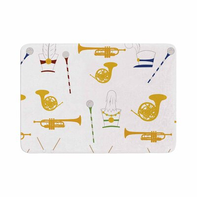 Stephanie Vaeth Marching Band Illustration Memory Foam Bath Rug Size: 0.5 H x 24 W x 36 D