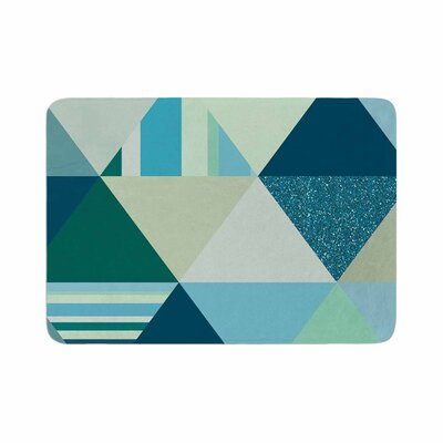 Noonday Design the Triangle s Geometric Memory Foam Bath Rug Size: 0.5 H x 24 W x 36 D