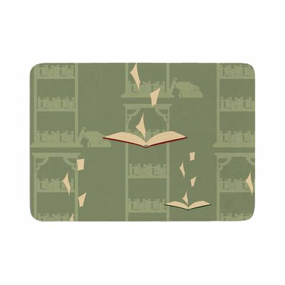 Stephanie Vaeth Library Memory Foam Bath Rug Size: 0.5 H x 17 W x 24 D