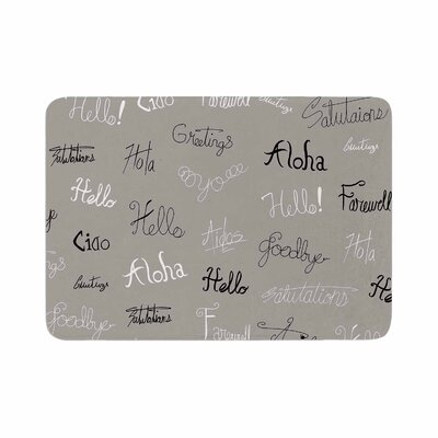 Stephanie Vaeth Hellos and Goodbyes Memory Foam Bath Rug Size: 0.5 H x 17 W x 24 D