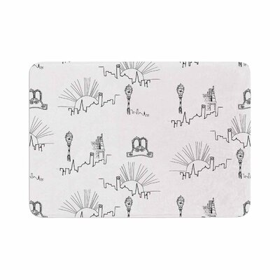 Stephanie Vaeth Neighborhood Digital Memory Foam Bath Rug Size: 0.5 H x 17 W x 24 D