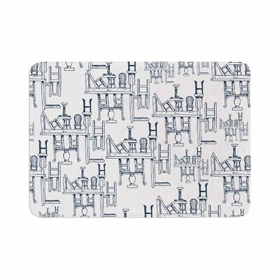 Stephanie Vaeth Tables and Chairs Abstract Memory Foam Bath Rug Size: 0.5 H x 17 W x 24 D