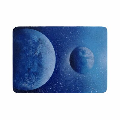 Infinite Spray Art Interplanetary Alignments Mixed Media Memory Foam Bath Rug Size: 1 H x 24 W x 36 D