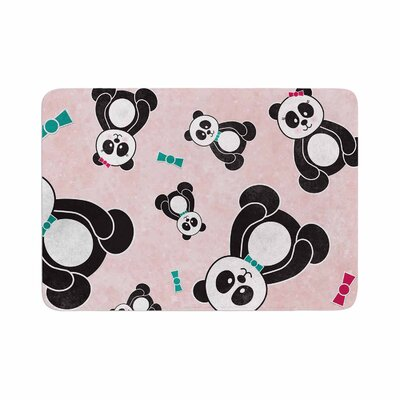 Noonday Design Panda Freefall in Memory Foam Bath Rug Size: 0.5 H x 17 W x 24 D