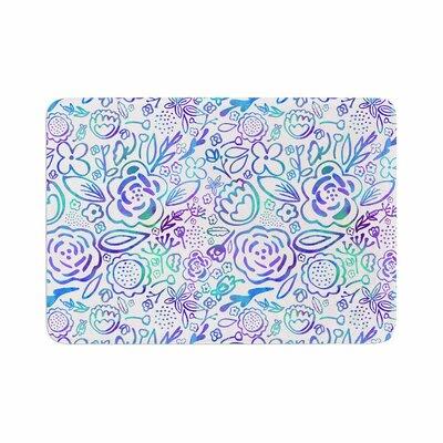 Noonday Design Floral Explosion Floral Pattern Memory Foam Bath Rug Size: 0.5 H x 17 W x 24 D
