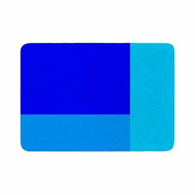 Trebam Bluz V.3 Geometric Memory Foam Bath Rug Size: 0.5 H x 24 W x 36 D