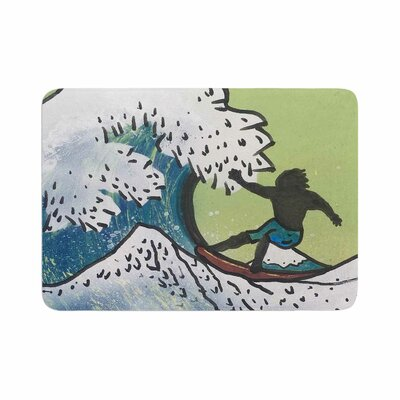 Infinite Spray Art Hokusai Remake Memory Foam Bath Rug Size: 0.5 H x 17 W x 24 D