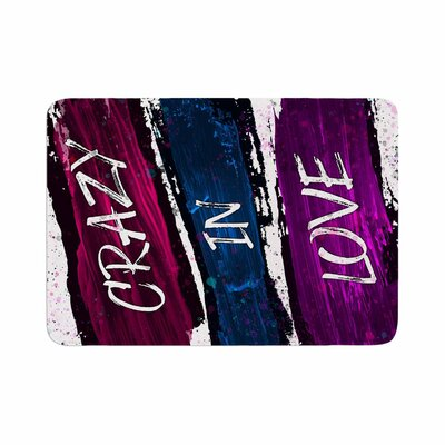 Noonday Design Crazy in Love Magenta Painting Memory Foam Bath Rug Size: 0.5 H x 17 W x 24 D