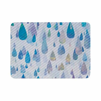 Noonday Design Rain Storm Digital Memory Foam Bath Rug Size: 0.5 H x 24 W x 36 D