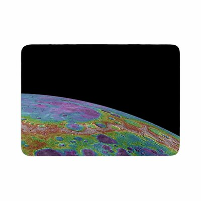 Alias Mercurys Closeup Abstract Memory Foam Bath Rug Size: 0.5 H x 17 W x 24 D