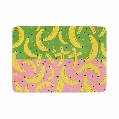 Strawberringo Banana II Memory Foam Bath Rug Size: 0.5 H x 17 W x 24 D