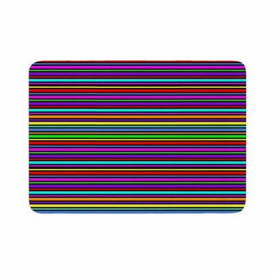 Trebam Kolor Stripes Memory Foam Bath Rug Size: 0.5 H x 17 W x 24 D