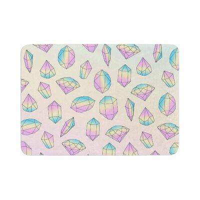 Strawberringo Diamonds Vector Memory Foam Bath Rug Size: 0.5 H x 17 W x 24 D