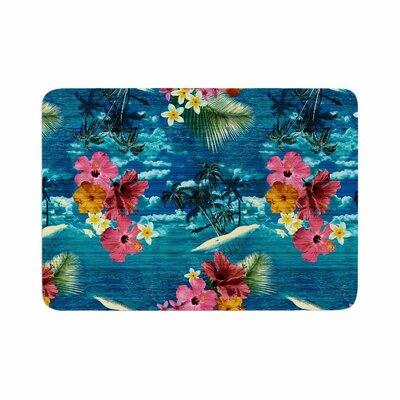 Victoria Krupp Paradise Island Floral Memory Foam Bath Rug Size: 0.5 H x 17 W x 24 D