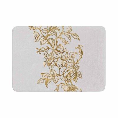 888 Design Vintage Rose Floral Digital Memory Foam Bath Rug Size: 1 H x 24 W x 36 D