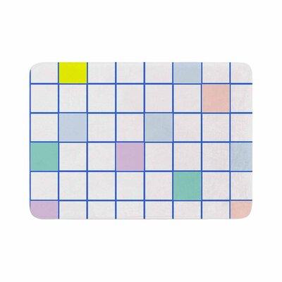 Vasare Nar Windowpane Grid Memory Foam Bath Rug Size: 0.5 H x 24 W x 36 D