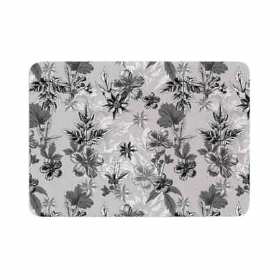 Victoria Krupp Engraving Flowers Floral Memory Foam Bath Rug Size: 0.5 H x 17 W x 24 D