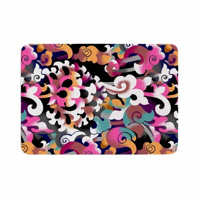 Victoria Krupp Fantasy Flowers Abstract Memory Foam Bath Rug Size: 0.5 H x 17 W x 24 D