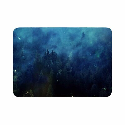 888 Design Night Forest Memory Foam Bath Rug Size: 0.5 H x 17 W x 24 D