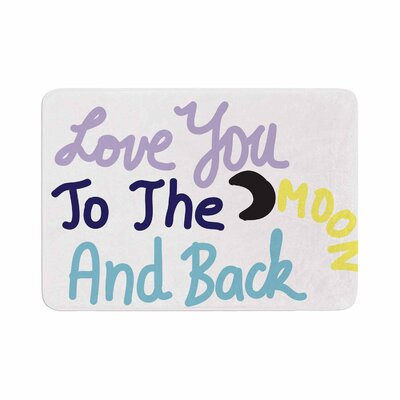 Vasare Nar Love You to the Moon and Back Vector Memory Foam Bath Rug Size: 0.5 H x 24 W x 36 D