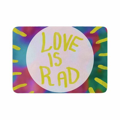 Vasare Nar Love Is Rad Tyopgraphy Memory Foam Bath Rug Size: 0.5 H x 24 W x 36 D
